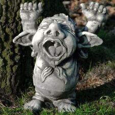 TROLL DORIAN gähnend 46 cm Steinguss Stein Steinfigur Deko Garten Figur SKULPTUR