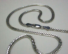 """925 Sterling Silver Curb Chain / Necklace - 17.5"""" Inches, 7.5 Grams, 3mm"""