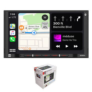 "Dual 7"" Touchscreen 2 DIN Radio with Bluetooth, Apple CarPlay, & Android Auto"