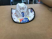 beer box cowboy hat hand made with old beer cartons w/elastic head band sewn in