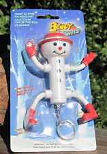 199X Bendy Lights PVC Christmas Figure Light Snowman W/Bendable Arms & Legs MOC
