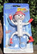 199X Bendy Lights PVC Christmas Figure Light Snowman W/Bendable Arms & Legs MOC