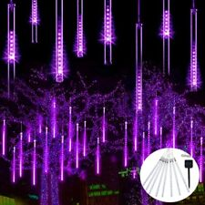 144 LED Solar Lights Meteor Shower Rain 8 Tube Tree Outdoor Light Xmas Decor