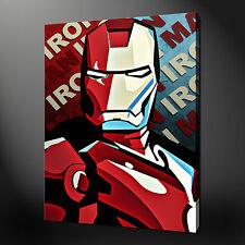 "IRON MAN MOVIE POP ART MODERN PICTURE POSTER CANVAS PRINT 20""x16"" FREE UK P&P"