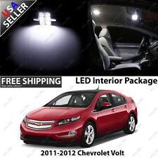 Chevrolet Chevy Volt 4 Door Sedan White LED Interior Light Bulb Package