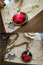 Fashion Gem Retro Bronze long Pendant sweater Chain Necklace ZS126