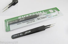 Vetus Pro ESD Safe Fine Tip Straight Tweezers Non-magnetic Anti Static TS-14 ESD