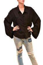 One Teaspoon Women's Open Back Utility Shirt Black  Size S RRP $116 BCF86