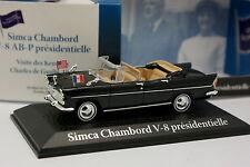 Atlas UH Voiture Présidentielle 1/43 - Simca Chambord V8 De Gaulle