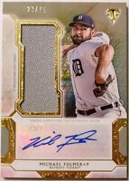 2018 TOPPS TRIPLE THREADS * MICHAEL FULMER AUTO /75! GAME USED RELIC * TIGERS!