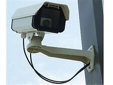 Dummy Security CCTV Camera - Full Size - Top Quality Metal Housing -  LED Light