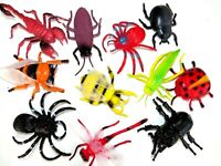 Lot of 11 Insects Bugs Spider Tarantula Scorpion Bee PVC Plastic Toy Figures
