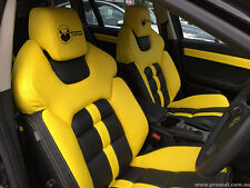 HSV VE GTS SEATS PAIR FRONT REBORN LEATHER       HOLDEN COMMODORE VE VZ VY VX VT