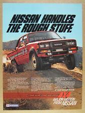 1984 Nissan 4x4 King Cab Pickup Truck vintage print Ad