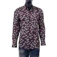 DOLCE & GABBANA GOLD Slim Fit RUNWAY Hedgehog Printed Cotton Shirt Brown 06090