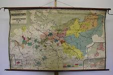 Belles anciennes écoles carte Uni Preussen Prusse 1415-1806 162 x100 ~ 1930