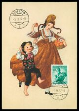 AUSTRIA MK 1957 COSTUMES TRACHTEN MAXIMUMKARTE CARTE MAXIMUM CARD MC CM h0323