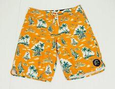 O'neill Ajacks Orange Floral Boating Surf Swim Board Shorts Mens 33
