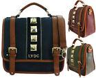 Ladies LYDC Designer Shoulder Handbag Studded Satchel Womens Tote Massenger Bag