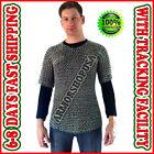 Butted Chain Mail Shirt ~ Lightweight Anodized Aluminium Chainmail Haubergeon M