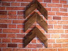 Legno massello, shabby chic, frecce di muro, decorazione da parete, Wall Art, rovere scuro,