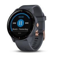Garmin Vivoactive 3 Music GPS Smartwatch- Granite Blue+Rose Gold-(010-01985-31)