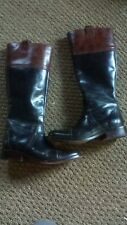 charlie horse leather boots, black, size 6