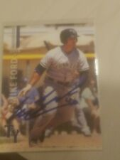 mike ford signed card autographed 2016 tampa yankees team set minors yankees ny