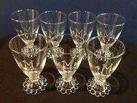 "7 Vintage Anchor Hocking Boopie Glasses 4.5"" with M Engraved Etched"
