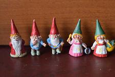 Vintage Lot of 5 David Gnome Dwarf Figurines