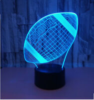 Football NightLight 3D LED Illusion Lamp 7 Colors Changing- USB, TOUCH &REMOTE