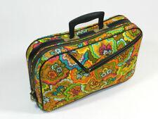Vintage Carry On Bag Suitcase Luggage Retro Mod