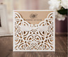 Laser Cut Wedding Invitations Card Personalized Rustic Invite Quinceanera Shower