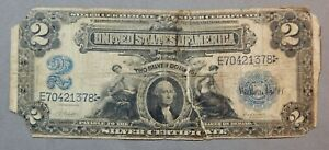 Series of 1899 United States $2 Two Dollar Silver Certificate Note / as-is / nr