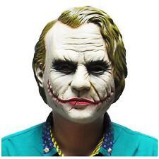 Joker Mask Costume Cosplay movie Rubber Latex Masks Halloween Heath Ledger Clown