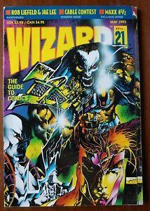 WIZARD #21 Guide to Comics Magazine Jim Lee 1993 FN+