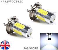 2x H7 7.5W COB CREE LED Bulbs BRIGHT XENON White 6000K - Fog Light Lamp 12V UK
