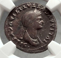 JULIA TITI Titus daughter 80AD Ancient Silver Roman Coin VENUS NGC Certif i66635