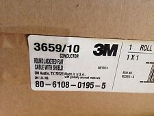 New 3M 3659/10 03F5941 Round-To-Flat Cable, 10Cond 100Ft 28Awg Jacketed