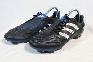 Adidas Predator TRX FG Rugby Boots Optifit Size UK 9 US 9.5 EUR 43.5 Black Blue