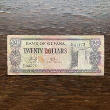 GUYANA BANKNOTE - 20 DOLLARS - FREE SHIPPING