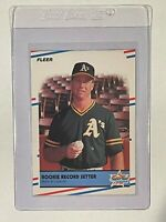 1988 Fleer Glossy #629 Mark McGwire Rookie Record Setter