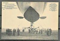 FRANCE PPC HISTORY  AVIATION  MILITARY BLIMP 1909 UNUSED VF