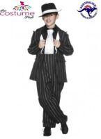Kids 1920s Gangster Costume Boys Bugsy GT Gatsby Suit Fancy Dress Book Week