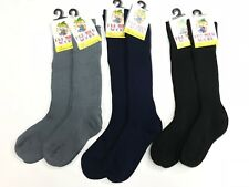 2x New kids Long Socks in  Navy Blue Black or Grey boy/girl School everyday