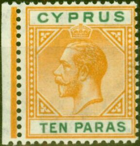 Cyprus 1921 10pa Orange & Green SG85 Fine Mtd Mint