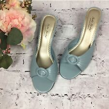 Womens Hush Puppies Soft Style Blue Sandals Slip On Shoes Size 10M