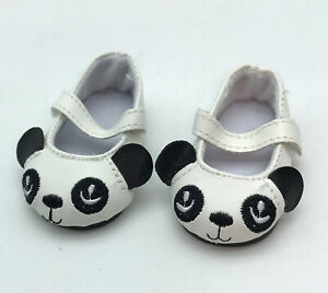 """18"""" PANDA SHOES FIT AMERICAN GIRL OUR GENERATION DOLL"""