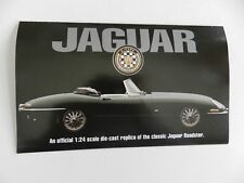 Franklin Mint 1961 JAGUAR E-TYPE Brochure Pamphlet Mailer
