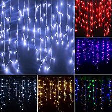 Weihnachten Licht LED Lichtervorhang Innen Außen Garten Party Deko Lichterkette